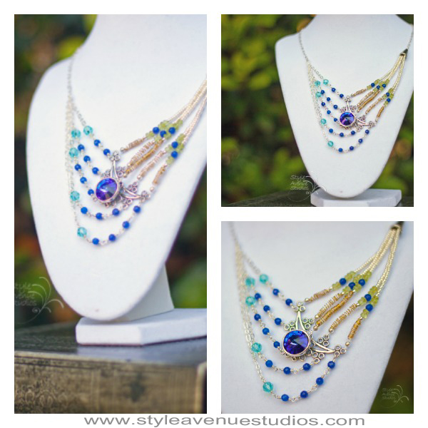 Peacock Necklace Collage