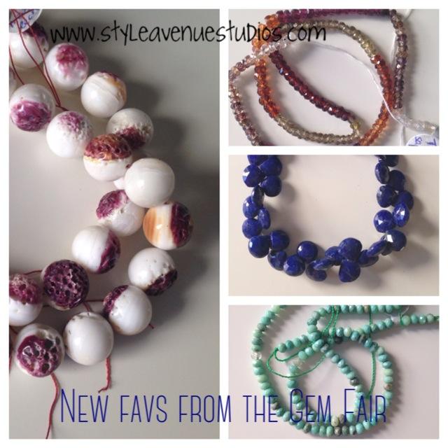 semi-precious stones, lapis, spiny oyster, tundra sapphire, green opal