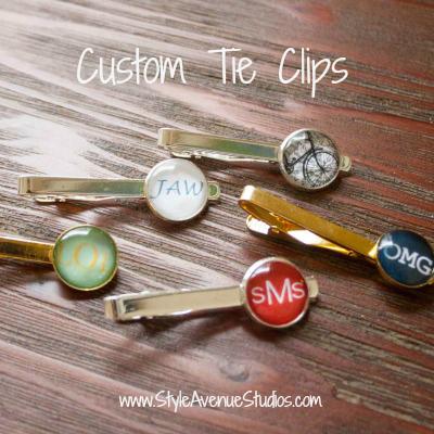 Custom tie clips