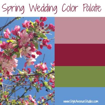 Wedding color palate ideas