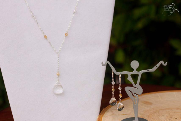 Crystal and Champagne Bridal Jewelry