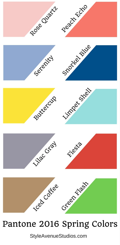 Spring 2016 Pantone Colors – Style Avenue Studios