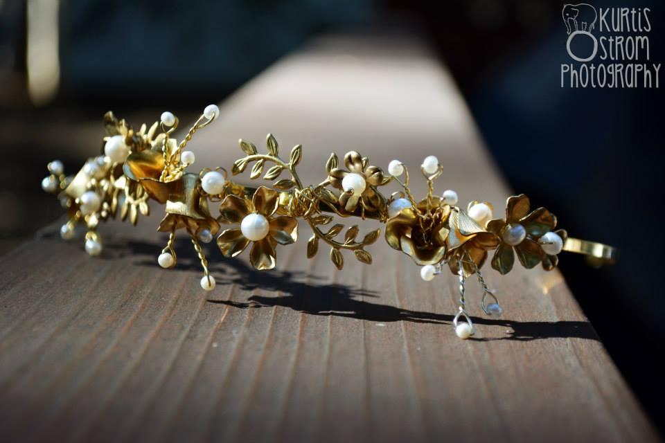 vintage gold headband
