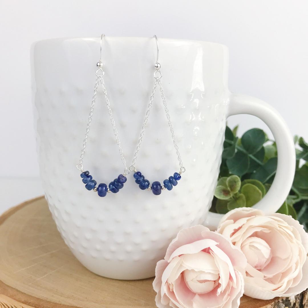 sapphire chandelier earring
